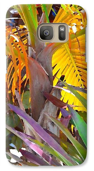 Galaxy Case featuring the photograph Golden Palm 2 by Darla Wood