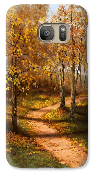Galaxy Case featuring the painting Golden Path  by Sena Wilson