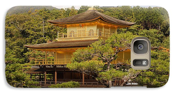 Galaxy Case featuring the photograph Golden Pavilion by Cassandra Buckley