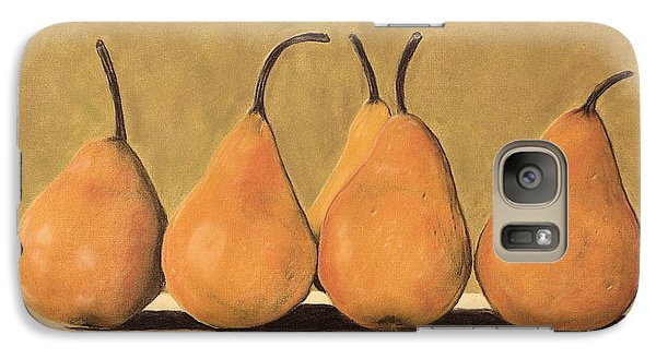 Galaxy Case featuring the pastel Golden Pears  by Jan Amiss