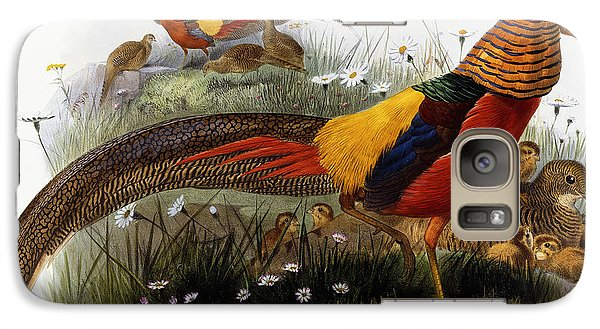 Golden Pheasants Galaxy Case by Joseph Wolf