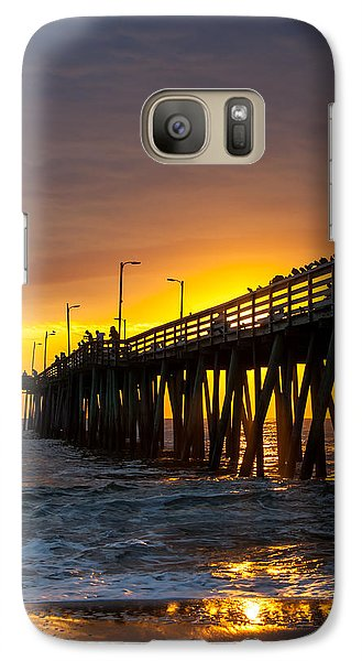 Galaxy Case featuring the photograph Golden Pier by Dawn Romine