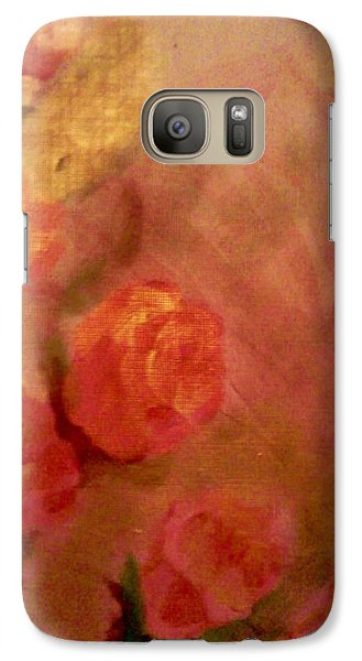 Galaxy Case featuring the painting Golden Pink Roses by Christy Saunders Church