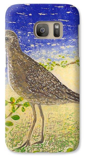 Galaxy Case featuring the painting Golden Plover by Anna Skaradzinska