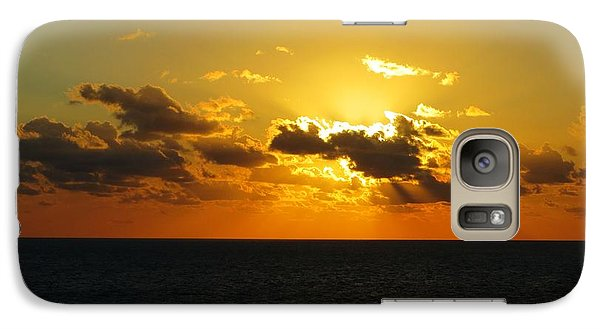 Galaxy Case featuring the photograph Golden Rays Sunset by Jennifer Wheatley Wolf