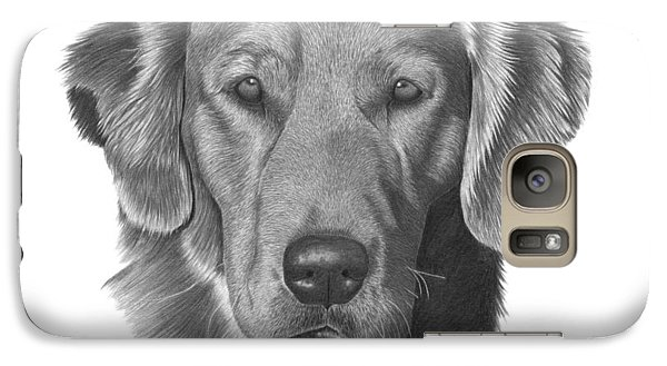 Galaxy Case featuring the drawing Golden Retriever - 026 by Abbey Noelle