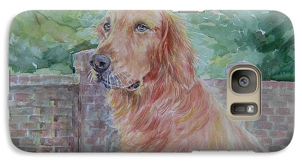 Galaxy Case featuring the painting Golden Retriever by Gloria Turner