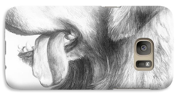 Galaxy Case featuring the drawing Golden Retriever Study by Meagan  Visser