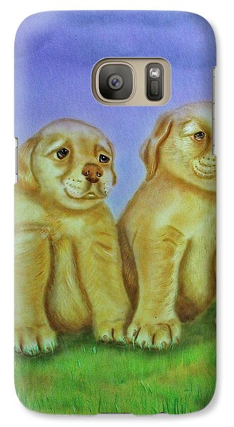 Galaxy Case featuring the painting Golden Retriever by Thomas J Herring