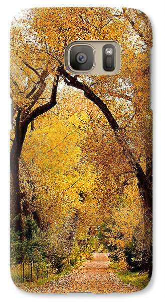 Galaxy Case featuring the photograph Golden Roads by Steven Reed