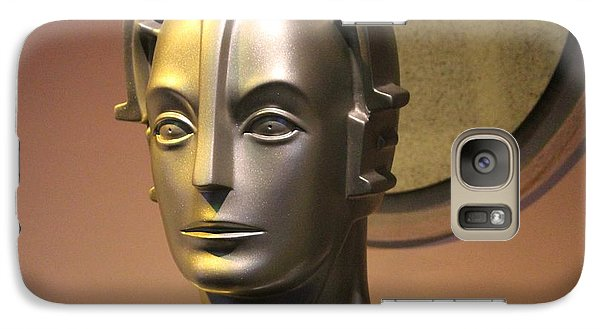 Galaxy Case featuring the photograph Golden Robot Lady Closeup by Cynthia Snyder