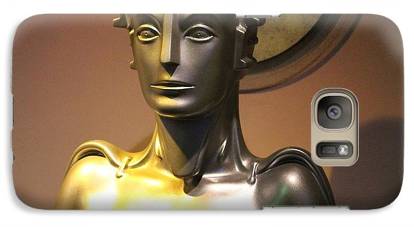Galaxy Case featuring the photograph Golden Robot Lady by Cynthia Snyder