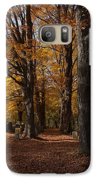 Galaxy Case featuring the photograph Golden Rows Of Maples Guide The Way by Jeff Folger