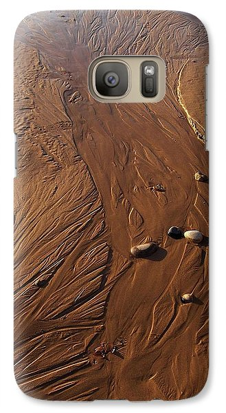 Galaxy Case featuring the photograph Golden Sand Streams by Kathi Mirto