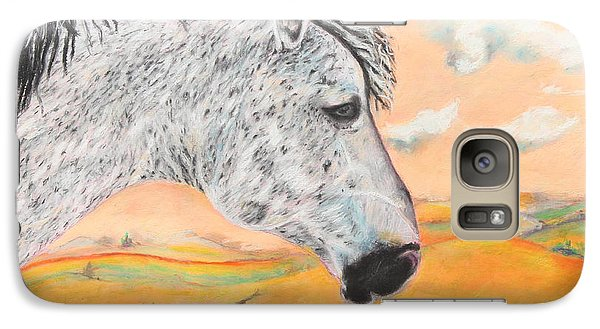 Galaxy Case featuring the painting Golden Sky by Jeanne Fischer