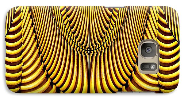 Galaxy Case featuring the painting Golden Slings by Rafael Salazar