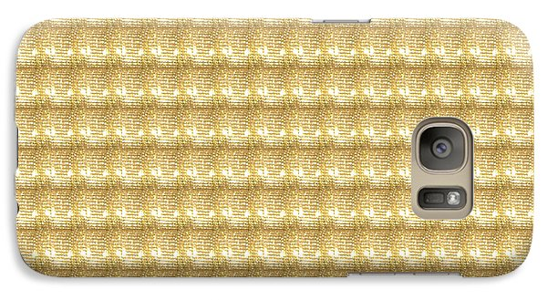 Galaxy Case featuring the photograph Golden Sparkle Tone Pattern Unique Graphic V2 by Navin Joshi