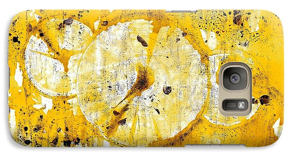 Galaxy Case featuring the painting Golden Sun Rise - 1290.121912 by Kris Haas