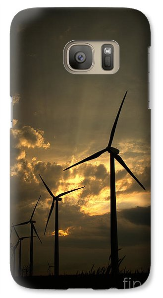 Galaxy Case featuring the photograph Golden Sunset 1 by Jim McCain
