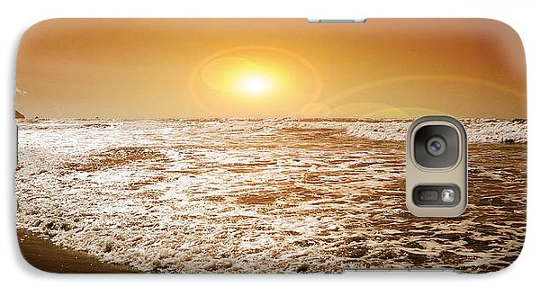Galaxy Case featuring the photograph Golden Sunset by Aaron Berg