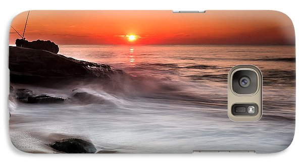 Galaxy Case featuring the photograph Golden Sunset by Edgar Laureano