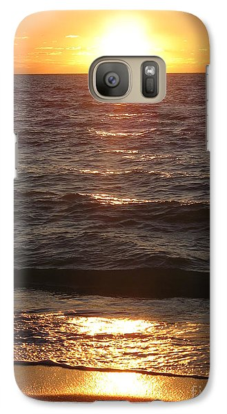 Galaxy Case featuring the photograph Golden Sunset At Destin Beach by Christiane Schulze Art And Photography