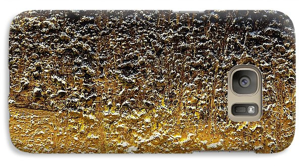 Galaxy Case featuring the painting Golden Time - Abstract by Ismeta Gruenwald