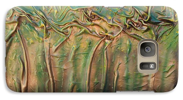 Galaxy Case featuring the mixed media Golden Trees by Angela Stout