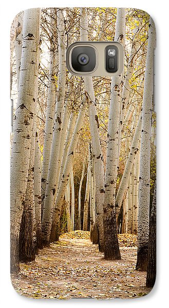 Galaxy Case featuring the photograph Golden Trees Dunhuang China by Sally Ross