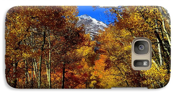 Galaxy S7 Case featuring the photograph Golden Tunnel by Karen Shackles