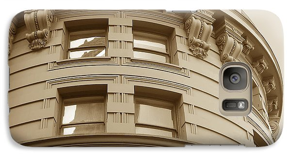 Galaxy Case featuring the photograph Golden Vintage Building by Connie Fox
