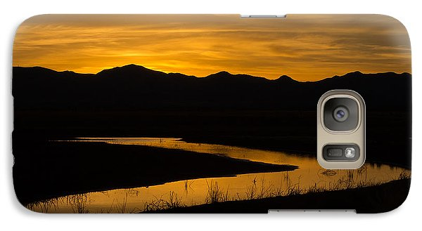 Galaxy Case featuring the photograph Golden Wetland Sunset by Beverly Parks