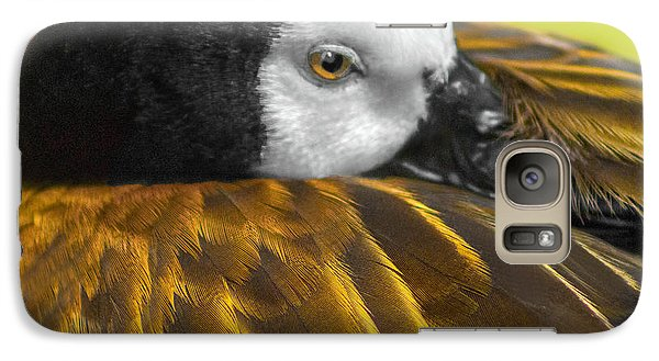 Galaxy Case featuring the photograph Golden Wings by Marion Johnson