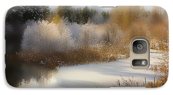 Galaxy Case featuring the photograph Golden Winter by Sonya Lang