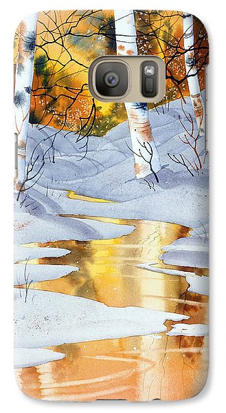 Galaxy Case featuring the painting Golden Winter by Teresa Ascone