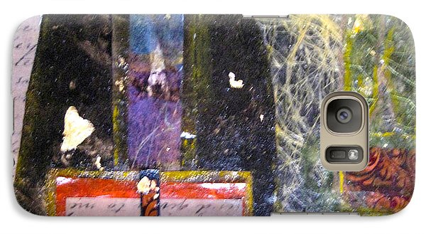 Galaxy Case featuring the painting Golden Words by MaryAnne Ardito