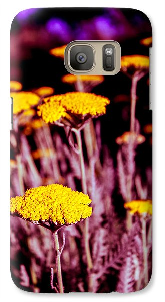 Galaxy Case featuring the photograph Golden Yarrow On A Blood Moon Night by Dave Garner