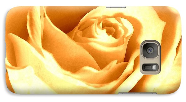 Galaxy Case featuring the photograph Golden Yellow Rose by Janine Riley