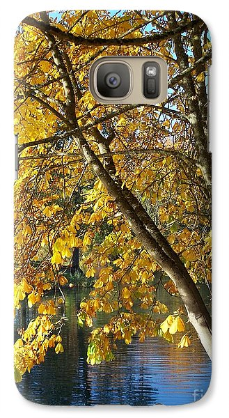 Galaxy Case featuring the photograph Golden Zen by Chalet Roome-Rigdon
