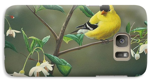 Finch Galaxy S7 Case - Goldfinch And Snowbells by Peter Mathios