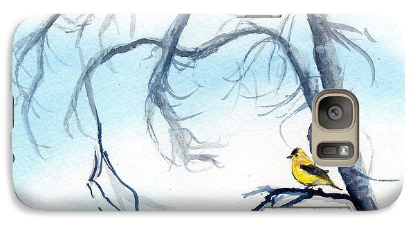 Galaxy Case featuring the painting Goldfinch In Tree by C Sitton