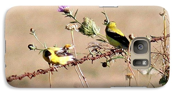 Galaxy Case featuring the photograph Goldfinch Quest 1 by Erica Hanel