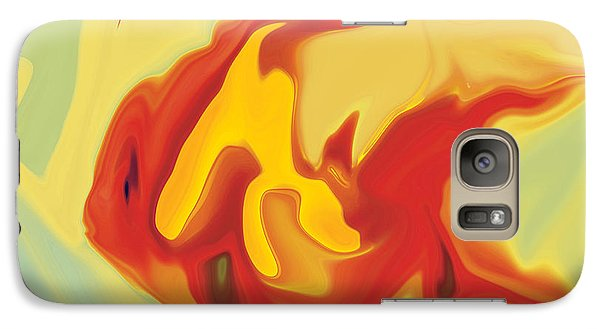 Galaxy Case featuring the digital art Goldfish 2 by Rabi Khan