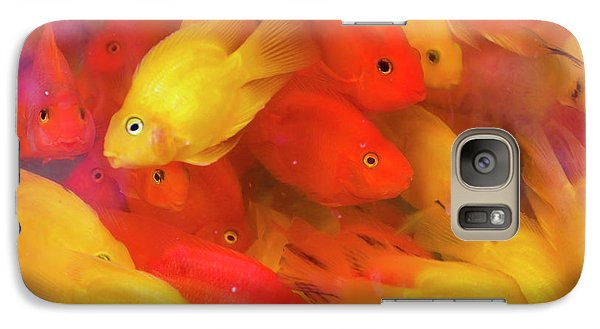 Goldfish At Goldfish Market, Hong Kong Galaxy S7 Case by Peter Adams