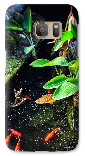 Galaxy Case featuring the photograph Goldfish In Pond by Silvia Ganora