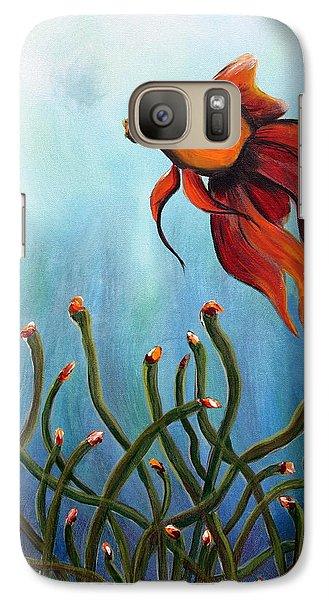 Galaxy Case featuring the painting Goldfish by Jolanta Anna Karolska