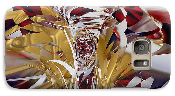 Galaxy Case featuring the digital art Goldigger by rd Erickson