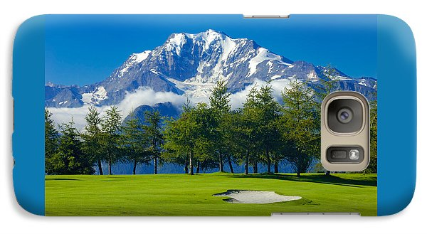 Golf Course In The Mountains - Riederalp Swiss Alps Switzerland Galaxy S7 Case by Matthias Hauser