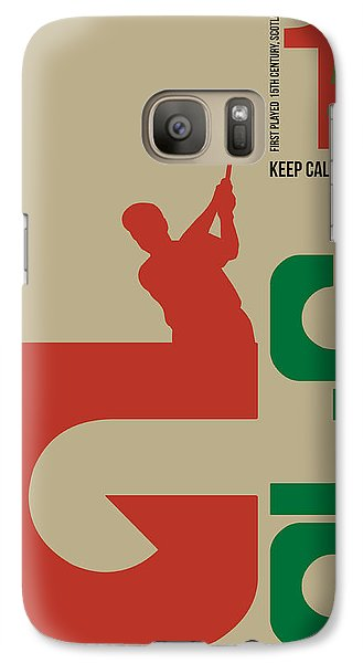 Golf Poster Galaxy S7 Case