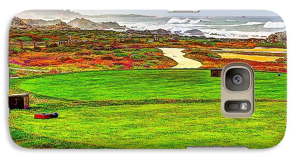 Galaxy Case featuring the photograph Golf Tee At Spyglass Hill by Jim Carrell